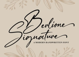 Berlione Signature Font