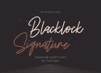Blacklock Signature Font