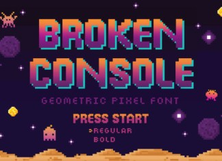 Broken Console Font