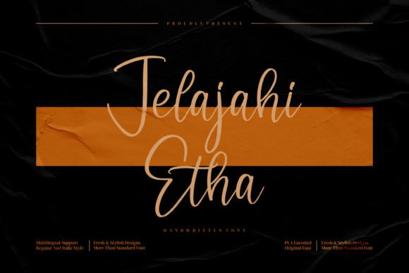 Jelajahi Etha Font