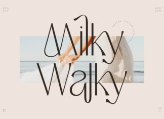 Milky Walky Font