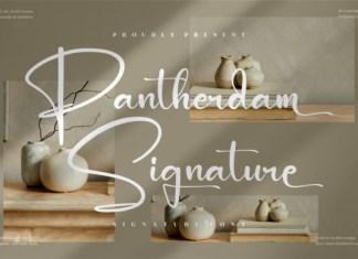 Pantherdam Signature Font