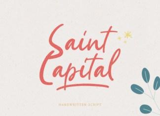 Saint Capital Font