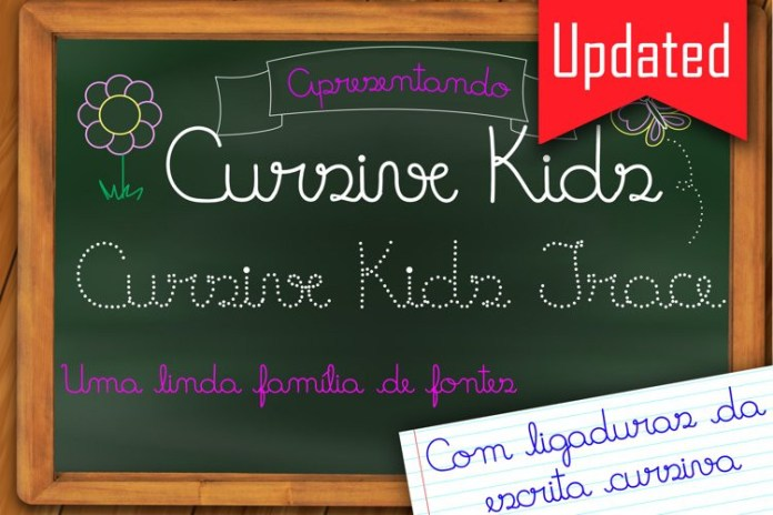 Cursive Kids and Cursive Trace Font