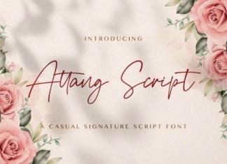 Attang Script Font