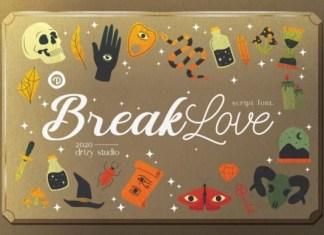 BreakLove Font