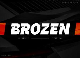 Brozen Font