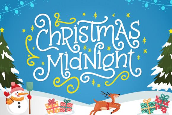 Christmas Midnight Font