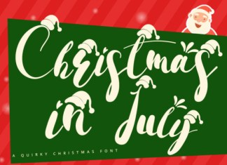 Christmas in July Font