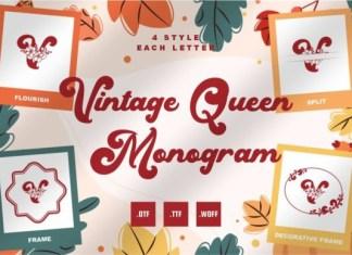 Vintage Queen Monogram Font