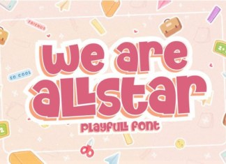 We Are Allstar Font