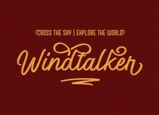 Windtalker Rough Font