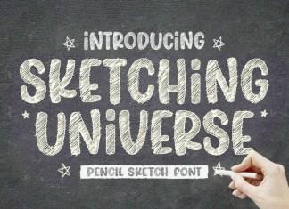 Sketching Universe Font