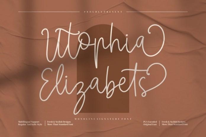 Utophia Elizabets Font