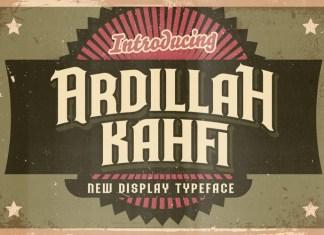 Ardillah Kafi Font