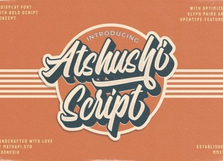 Atshushi Script Font