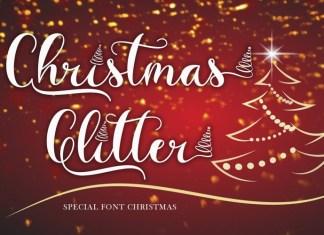 Christmas Glitter Font