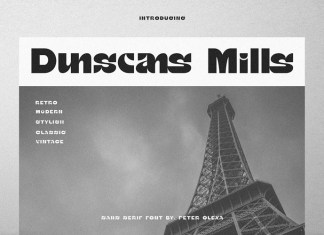 Dunscans Mills Font