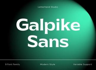 Galpike Sans Font