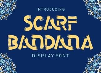 Scarf Bandana Font