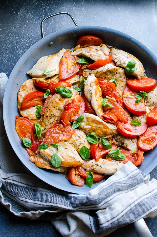 Chicken Breast With Tomatoes And Garlic