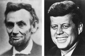 """Abraham Lincoln was elected to Congress in 1846. John F. Kennedy was elected to Congress in 1946. Abraham Lincoln was elected President in 1860. John F. Kennedy was elected President in 1960. Both were particularly concerned with civil rights. Both wives lost a child while living in the White House. Both Presidents were shot on a Friday. Both Presidents were shot in the head. Now it gets really weird. Lincoln's secretary was named Kennedy. Kennedy's Secretary was named Lincoln. Both were assassinated by Southerners. Both were succeeded by Southerners named Johnson. Andrew Johnson, who succeeded Lincoln, was born in 1808. Lyndon Johnson, who succeeded Kennedy, was born in 1908. John Wilkes Booth, who assassinated Lincoln, was born in 1839. Lee Harvey Oswald, who assassinated Kennedy, was born in 1939. Both assassins were known by their three names. Both names are composed of fifteen letters. Now hang on to your seat. Lincoln was shot at the theater named """"Ford."""" Kennedy was shot in a car called """"Lincoln"""" made by """"Ford."""" Booth and Oswald were assassinated before their trials. And here's the """"kicker"""": A week before Lincoln was shot, he was in Monroe, Maryland. A week before Kennedy was shot, he was with Marilyn Monroe. AND...................: Lincoln was shot in a theater and the assassin ran to a warehouse... Kennedy was shot from a warehouse and the assassin ran to a theater..."""