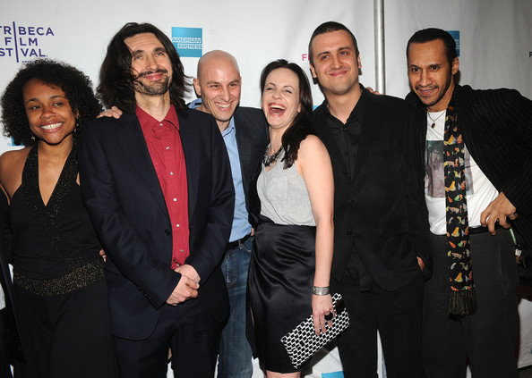 "Premiere Of ""Here And There"" At The 2009 Tribeca Film Festival In This Photo: George Lekovic, Branislav Trifunovic, David Nemer, Jelena Mrdja, Darko Lungulov, Antone Pagan Actors Lindsey Sinnih, Darko Lungulov, producer David Nemer, actors Jelena Mrdja, Branislav Trifunovic, and Antone Pagan at the premiere of ""Here and There"" during the 2009 Tribeca Film Festival at AMC Village VII on April 23, 2009 in New York City. (Photo by Brad Barket/Getty Images for Tribeca Film Festival) * Local Caption * Jelena Mrdja;Darko Lungulov;David Nemer;Branislav Trifunovic;George Lekovic;Antone Pagan (April 23, 2009 - Source: Brad Barket/Getty Images North America)"