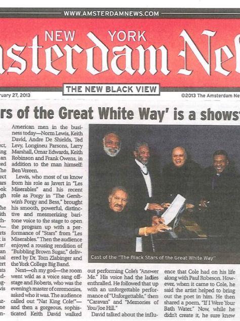 BLACK STARS NEWS ARTICLE AMSTERDAM NEWS 2-17-2013