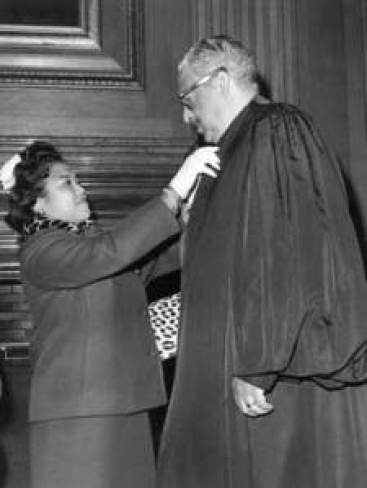 Cecilia and Thurgood Marshall