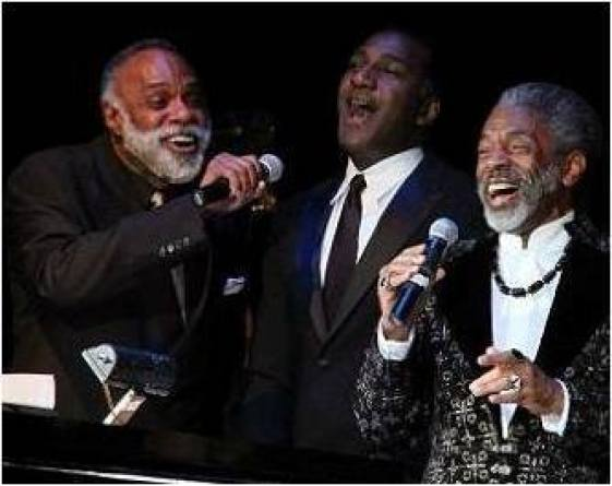 Chapman-Roberts-Norm-Lewis-and-Andre-DeShields-at-the-inaugural-Black-Stars-of-the-Great-White-Way-concert-event-held-at-the-Queensborough-Performing Arts Center-before a sold-out audience