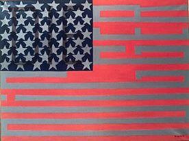 Faith Ringgold, Flag for the Moon: Die Nigger, 2967-1969, Oil on canvas.  1967*