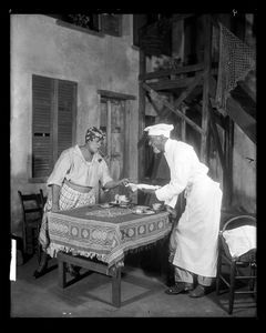Georgette Harvey as Maria and Leigh Whipper as Crab Vendor [Crab Man]. (1927)