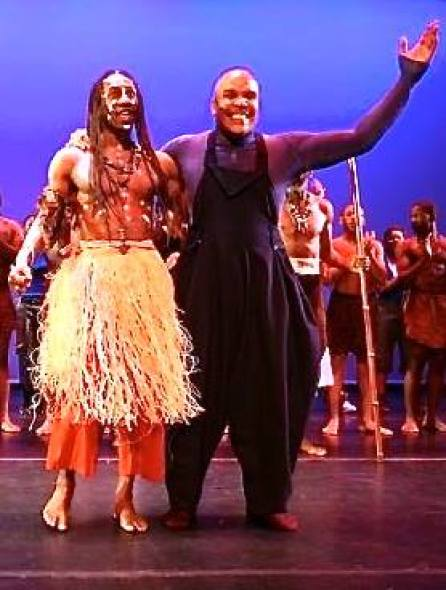 Abdel Salam and Obediah Wright at curtain call for Pure Elements.