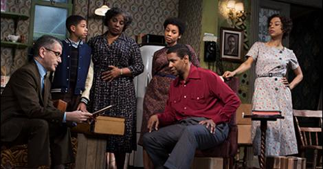 David Cromer as Karl Lindner, Bryce Clyde Jenkins as Travis Younger, LaTanya Richardson Jackson as Lena Younger, Anika Noni Rose as Beneatha Younger, Denzel Washington as Walter Younger and Sophie Okonedo as Ruth Younger in A Raisin in the Sun