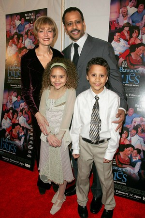 Ruben Santiago-Hudson and family The New York Premiere of HBO Film's LACKAWANNA BLUES