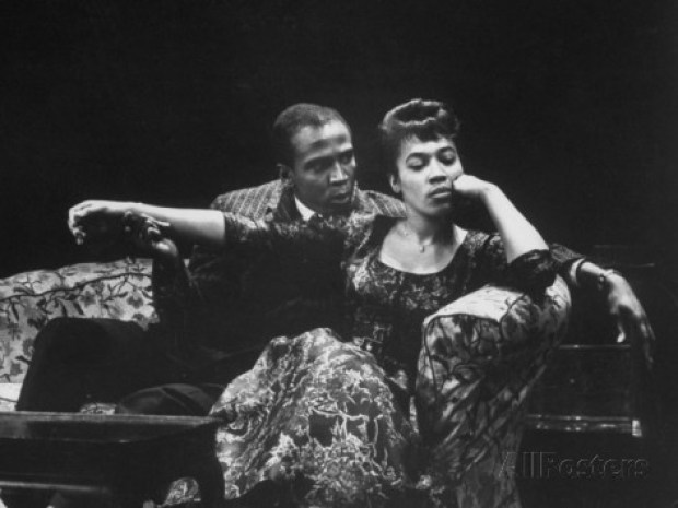 """Actor Louis Gossett Jr. and Diana Sands in a Scene from the Play """"A Raisin in the Sun"""""""