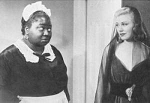 "In the first of two films Hattie made at RKO with Ginger Rogers in 1938, VIVACIOUS LADY (right), she plays the small and rather unremarkable role of a washroom attendant. Later that year in CAREFREE (1938), Ginger's eighth musical with Fred Astaire and a decent screwball comedy, Hattie once again makes a very minor contribution, this time as an attendant (named ""Hattie"") at the country club where most of the plot takes place."