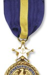 Navy Distinguished Service Medal See more recipients of this award Awarded for actions during the Peace Time Awards The President of the United States of America takes pleasure in presenting the Navy Distinguished Service Medal to General Colin Luther Powell, United States Army, for exceptionally meritorious and distinguished service in a position of great responsibility to the Government of the United States as Chairman of the Joint Chiefs of Staff from October 1989 through September 1991. In this capacity, General Powell was instrumental in leading the Armed Forces of the United States through numerous conflicts, humanitarian and peace keeping missions, and the largest restructuring of the Armed Forces since the demobilization following World War II. In service to his country, General Powell consistently gave sound advice to its leadership and demonstrated exceptional diplomatic acumen when dealing with the civilian and military leaders of foreign Nations thereby providing the necessary groundwork to enhance National security relationships worldwide. His advice to those in Government was flawless and contributed directly to the peaceful winning of the Cold War. General Powell was particularly effective in promoting a strong Navy and gave valuable support to the Navy on a variety of critical maritime issues. General Powell's most important and lasting contribution to the United States of America is a lean, professional Army, Navy, Air Force, and Marine Corps capable of working together in the best interests of defending freedom anywhere in the world. He has earned the respect of every Soldier, Sailor, Airman, and Marine, and the American public. General Powell's superb leadership skills, distinctive achievements, and unselfish devotion to duty reflected great credit upon himself and were in keeping with the highest traditions of the United States Armed Forces. Action Date: October 1989 - September 1993 Service: Army Rank: General Company: Chairman Division: Joint C