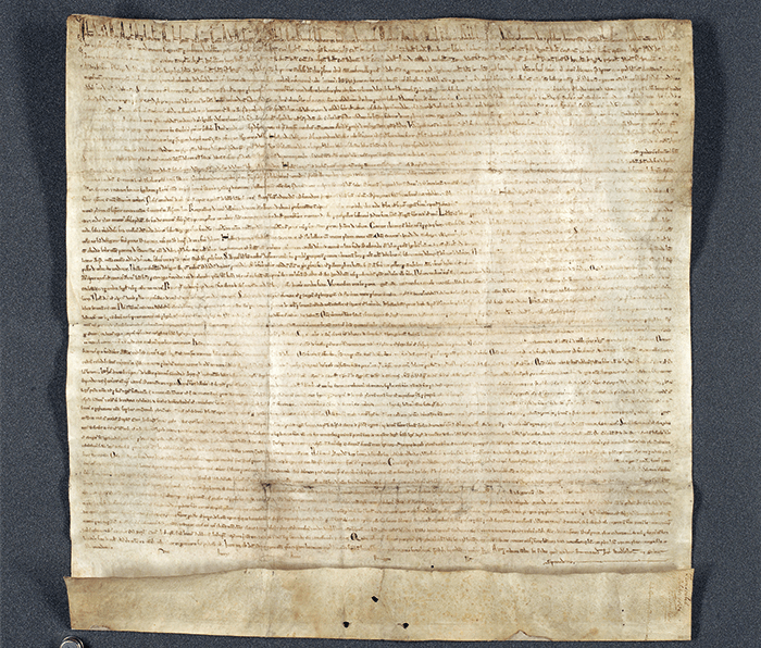 One of the original remaining copies of the Magna Carta. Image courtesy of Advanced.