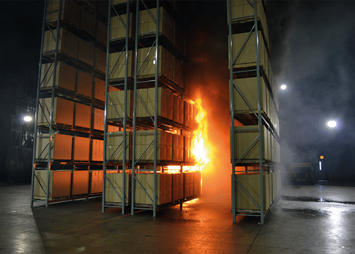 UL Large Scale Warehouse Simulation Fire Test.