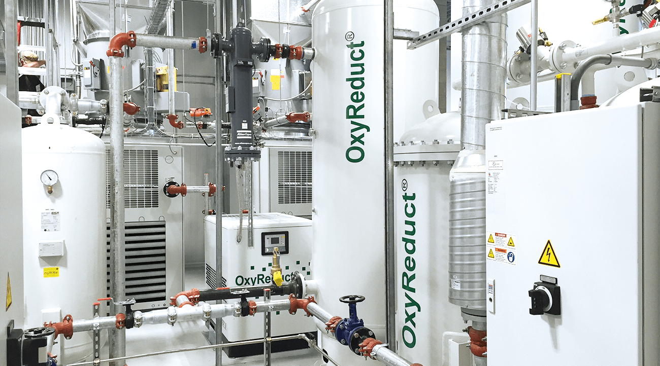 The Preferred Freezer Services warehouse is the first building in the USA to be protected by OxyReduct® technology.