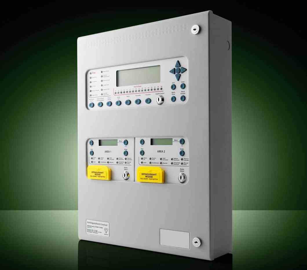 Kentec's Syncro XT+ addressable multi-area extinguishant control panel.