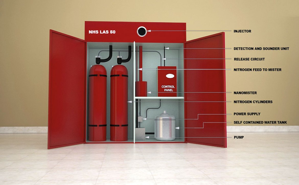 Figure 1: NanoMist Hybrid System, NHS 50. Local Agent Source (LAS) – self-contained.
