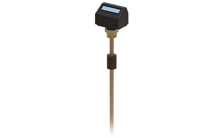 High resolution, thermally compensated liquid level measurement on digital display.