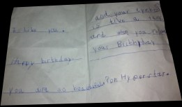 Card by nephew (Adi). Yes, he did copy Zubi ;-)