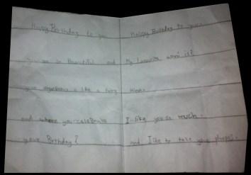 Card by my nephew (Zubi) <3