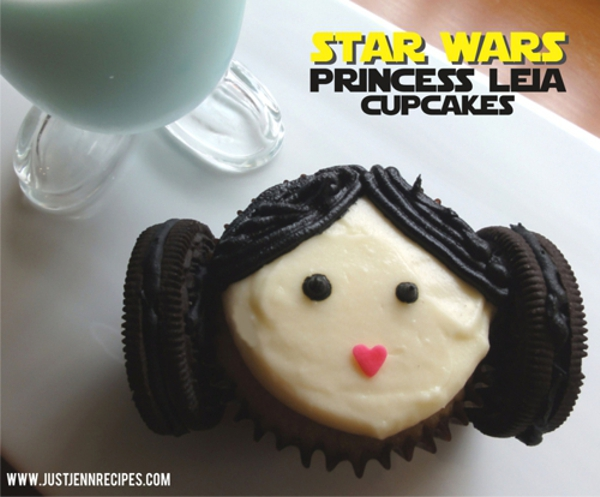Star Wars cupcake Princess Leia