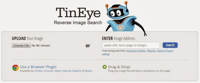 tineye - perform reverse image search