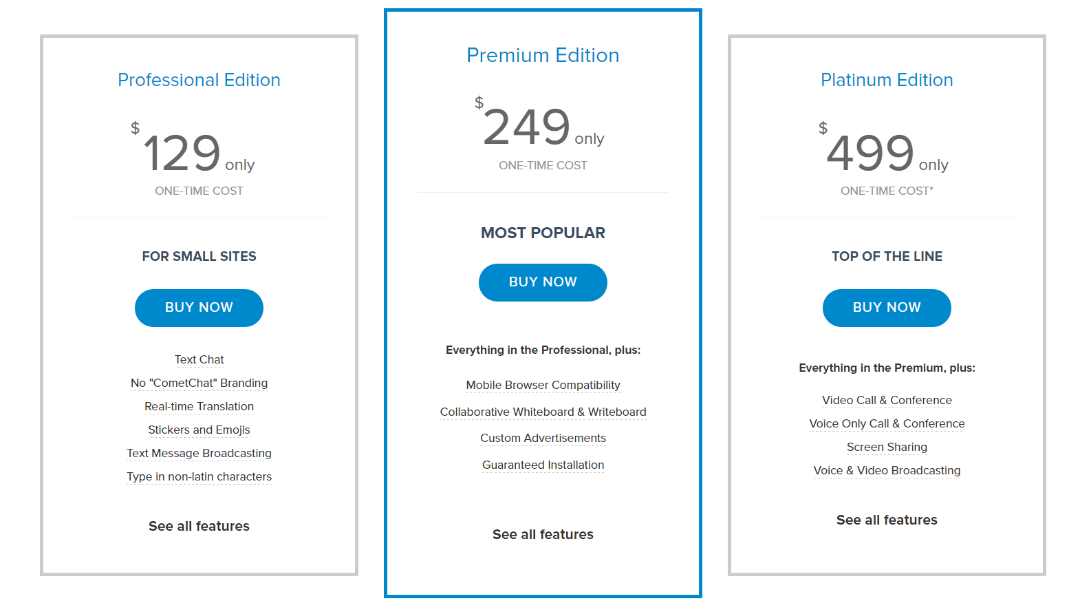 cometchat pricing