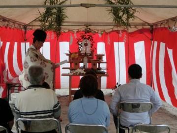 Mさま邸(広原町の家)R元年9月20日地鎮祭を行いました。